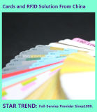 Пустая карточка PVC красного цвета Cr80/30mil для штока розничного торговца