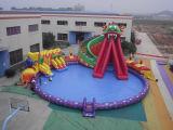 De grote Opblaasbare Drijvende Spelen van het Park van het Water van de Pool