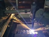 Máquina de corte por plasma CNC com bico transversal com plasma de suporte de THC e corte de oxicombustível