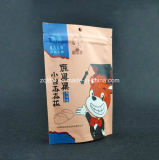 Kundenspezifischer Fastfood- Aluminiumfoliematt-Reißverschluss-verpackenbeutel