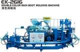 Auto máquina dobro giratória da sapata do carregador de chuva da modelação por injeção da cor do PVC