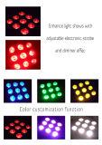 ディスコの段階の照明電池-動力を与えられる- Wirelessrgbwa紫外線LEDの同価ライト
