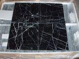 Мраморный плитки Nero Marquina слябов черные мраморный