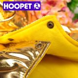 Roupa dourada brilhante do Natal para a roupa do cão e o revestimento do animal de estimação