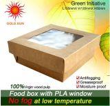 Caixa de empacotamento customizável da polpa de madeira de 100%