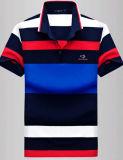 卸し売り人の方法綿のしまのあるポロのTシャツ