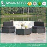 Sofà esterno di combinazione del sofà dell'angolo del patio del sofà del giardino del sofà stabilito di vimini del rattan impostato (stile magico)