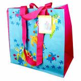 Eco freundliche mehrfachverwendbare Griff-Grün-Einkaufstasche (LJ-116)