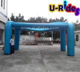 6m langes blaues aufblasbares Spray-Zelt mit Spraysystem