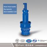 Écoulement axial vertical et pompe à eau d'égout submersible mélangée de flux