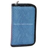 Sac bleu de maquillage de trousses à outils de produits de beauté de PVC