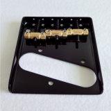 Ponte Tele de bronze da guitarra da bandeja de cinza da sela do vintage preto da cor