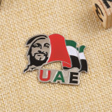 2016 Custom Metal Gold UAE 1971 Badge for Souvenir