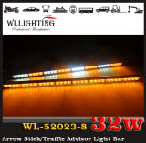 Luz de advertência direcional do tráfego duplo do diodo emissor de luz das cores