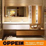 Gabinetes de cuarto de baño brillantes de la laca del estilo euro de Oppein altos (OP15-050A)