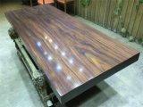 Таблица твердой древесины обедая для дома с прямым краем (SD-004)