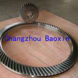 回転式表Zp49.5の螺線形の斜めギヤ(OD1950mm)