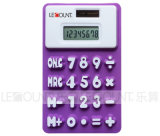13cm 8 Digits Dual Power Silicon Calculator con Megnet (LC511A)
