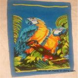 綿によって印刷されるベロアの子供の浴室タオルのビーチタオル
