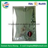 Sacchetto libero/metallico in casella con il becco per il riempimento dell'acqua pura