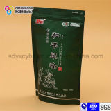 Ponte de pie Papel de aluminio bolsa de embalaje de la cremallera de plástico utilizados en el té verde