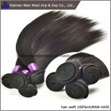 Trama recta negra del pelo humano de Silkly del pelo humano