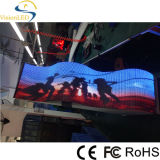 Muestra flexible flexible a todo color del LED del movimiento en sentido vertical de la muestra de interior P7.62 LED Display/LED de Messenge