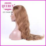 Горячий продавая покрашенный волнистый парик шнурка человеческих волос оптовый