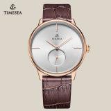 Leisure relógio de pulso de quartzo de qualidade com 72185 couro genuíno