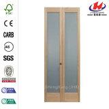 단단한 나무로 되는 박층으로 이루어지는 주조된 유리제 문