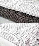 Conjunto de cobertura de edredon de algodão Waffle 3PCS, roupa de cama