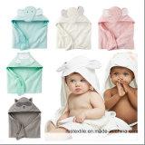 Il tovagliolo ed il Washcloth incappucciati lavorati a maglia del bambino del cotone hanno impostato in Cina