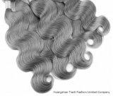 """24 """" 호화스러운 바디 파 브라질 사람의 모발 은 또는 회색 부피"""