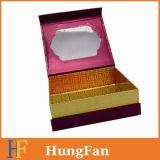 Rectángulo de regalo de papel superior con la ventana del PVC para el empaquetado cosmético