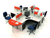 Cubículos modernos 4 Seater (HF-YZ051) de la oficina del sitio de trabajo del precio bajo