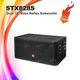 "Stx828sはボックス18 "" Subwoofer DJのスピーカー二倍になる"