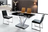 Tableau en verre rectangulaire en acier de Stainnless premier Dning de meubles modernes de mariage