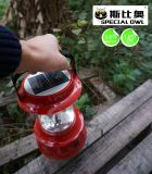 Solar、&Mobile USB Charging、Portable LED Solar Camping Light、Solar Lantern Camp Lights、Hanging Camping Hiking Lanternの4V2W LED Camping LanternかLighting