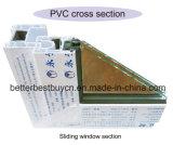 Ventana barata del precio UPVC/PVC/Plastic para la venta