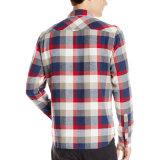 Camicia di vestito casuale convenzionale da affari del tasto del manicotto lungo del Mens