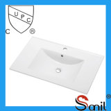 Comercio al por mayor de China CUPC baño de cerámica mueble lavabo (SN1548-75)