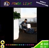 Planta iluminada do diodo emissor de luz do diodo emissor de luz do jardim mobília decorativa impermeável