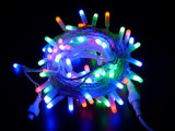 La stringa di rame del LED illumina la decorazione chiara di natale della tenda