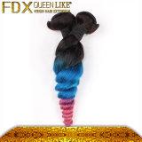 毛のアクセサリの私用包装のマレーシアの巻き毛の方法によって着色される毛の拡張