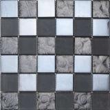 Quarto de prata da cozinha da decoração do aço inoxidável da telha do mosaico do metal