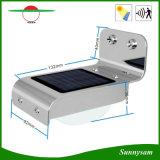 L'éclairage extérieur imperméabilisent 16 la lampe de mur solaire Sensor+Light-Control+Dim de lumière extérieure légère humaine de jardin de DEL