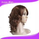 Lady&prime delle donne classiche di modo; Parrucche sintetiche termoresistenti dei capelli della parrucca di S di Short dei capelli ricci delle parrucche piene poco costose delle parrucche