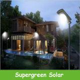 Luz de rua ao ar livre solar do jardim da segurança do detetor de movimento