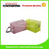Sacchetto libero impermeabile professionale di trucco del PVC di disegno di OEM/ODM con la chiusura lampo della plastica in 2016