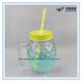 frasco de pedreiro dado forma abacaxi do vidro bebendo de 16oz 500ml